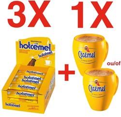 Actie Hotcémel: 3 x Hotcémel chocoladepoeder + 6 tassen GRATIS (ref. CECETAS)