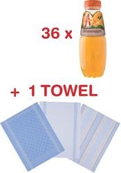 Actie Appelsientje: 3 x Appelsientje Sinaas + 3 x handdoek Oliver Strelli GRATIS