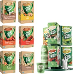 Actie Cup A Soup: 6 x verschillende smaken soep + 1 x carrousel (CUPCAR) GRATIS