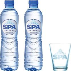 Actie Spa: 2 x tray Spa Reine, 50 cl + 6 x spaglas GRATIS
