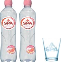 Actie Spa: 2 x tray Spa touch of Grapefruit, 50 cl + 6 x spaglas GRATIS