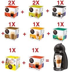 Actie Dolce Gusto: 10 x doosjes koffie Dolce Gusto (mix) + 1 x Krups Piccolo GRATIS