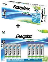 1 x batterijen AAA, doos van 20 stuks (ref. 5354151) + GRATIS blister van 8 batterijen AA (ref. 103580G)