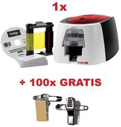 Actie Badgy printer (BDG100) + GRATIS linten (BGP0001)