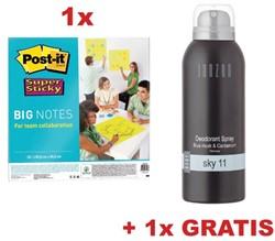 Actie Post-It: 1 x big notes, 56 x 56 cm, groen (ref BN22) + GRATIS 1 x deo spray Sky 11 (ref JDSSKY1)