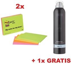 ctie Post-It: Meeting Notes, ft 149 x 200 mm, 4 blokken (6845SSP) + GRATIS 1 x Shower Foam SKY 11