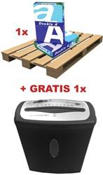 Double A actie ABD3, 1 pallet printpapier Premium(ref. D1022)+ GRATIS 1 x papiervernietiger (ref. 962264)