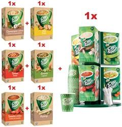 Cup A Soup ODP4, 6 x CUP A SOUP doos van 21 zakjes, GRATIS carroussel (ref. CUPCAR)