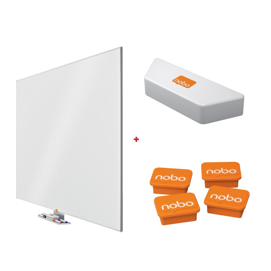 Nobo whiteboard Email Widescreen 70 (1071 x 15 x 1894 mm, l x b x h) + GRATIS 1 wisser en 4 magneten