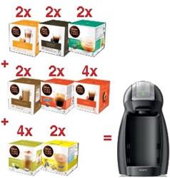 ACTIE Nescafé capsules Dolce Gusto + GRATIS Koffiemachine Genio Black