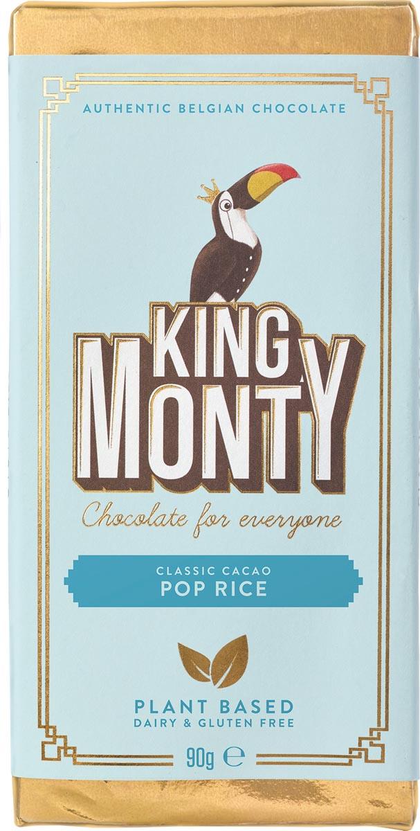 King Monty chocoladereep, Pop Rice, reep van 90 g, pak van 12 stuks