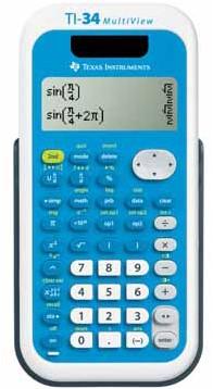 Texas wetenschappelijke rekenmachine TI-34 Multiview, teacher pack met 30 stuks
