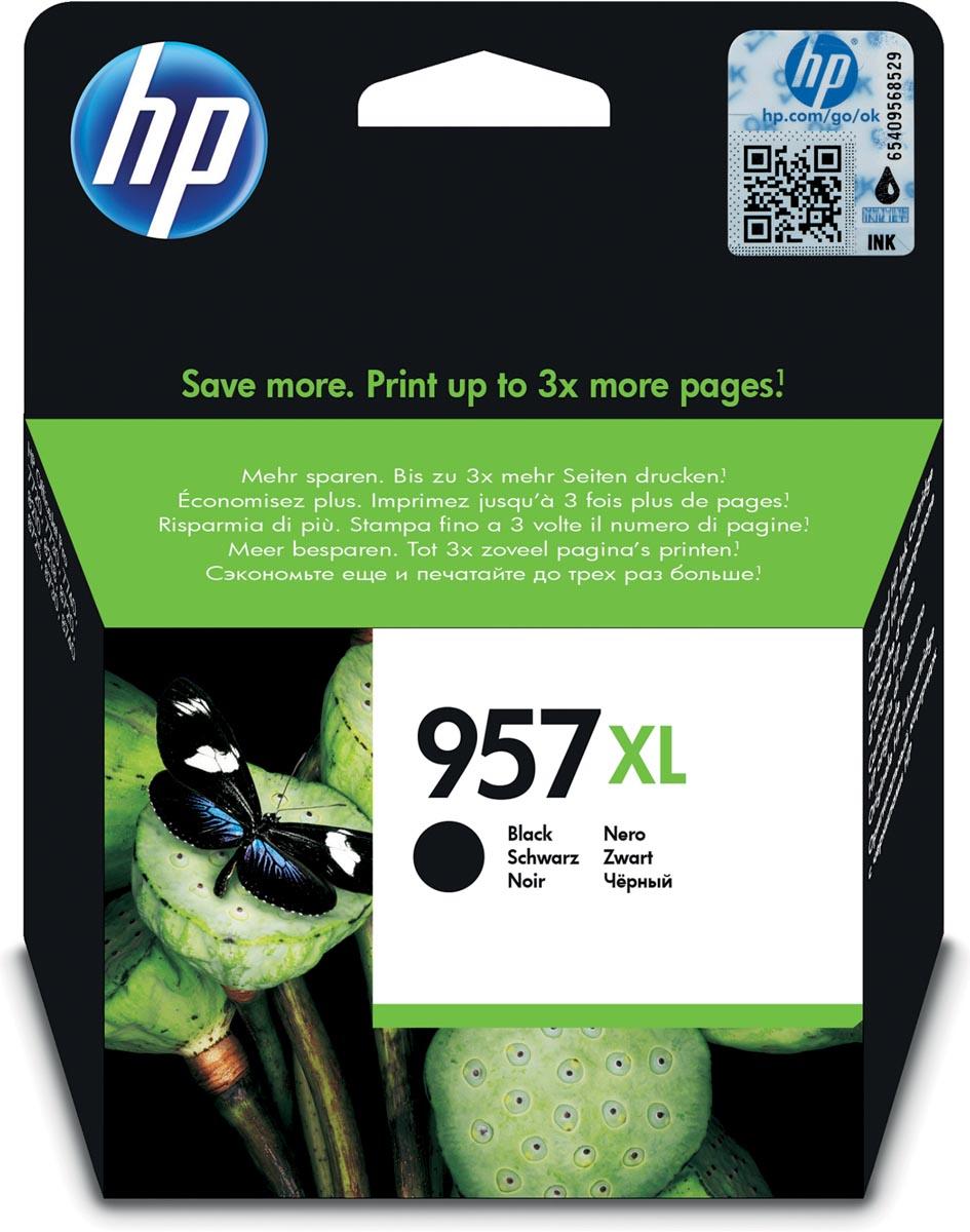 HP inktcartridge 957XL, 3 000 paginas, OEM L0R40AE, zwart