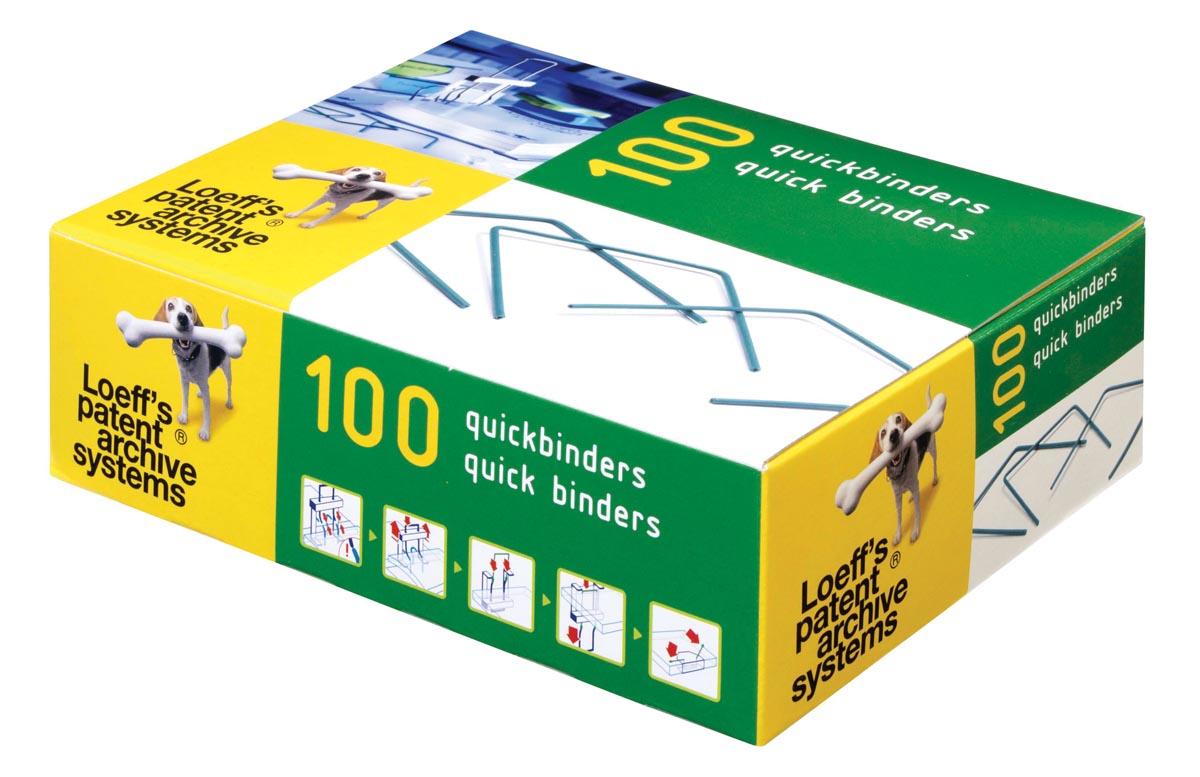Loeff's quickbinder Lengte 100 mm. Doos van 100 stuks.