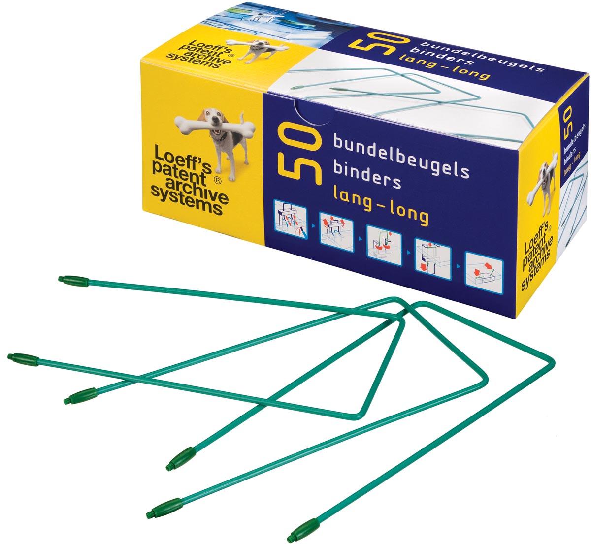 Loeff's bundelbeugel, lengte: 180 mm, groen, doos van 50 stuks