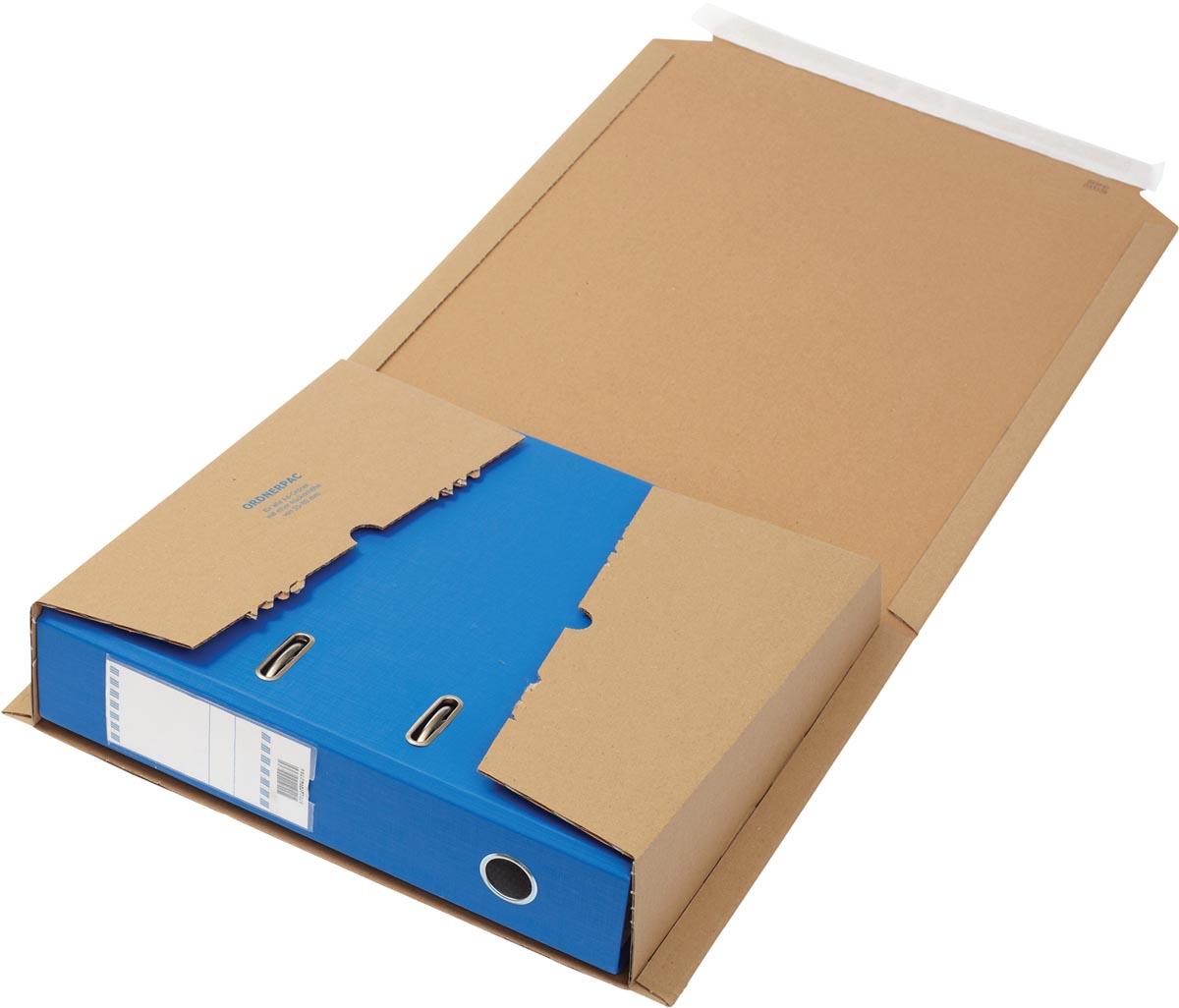 Loeff's verzenddoos voor ordners, ft 320 x 290 x 80 mm, bruin, pak 25 stuks