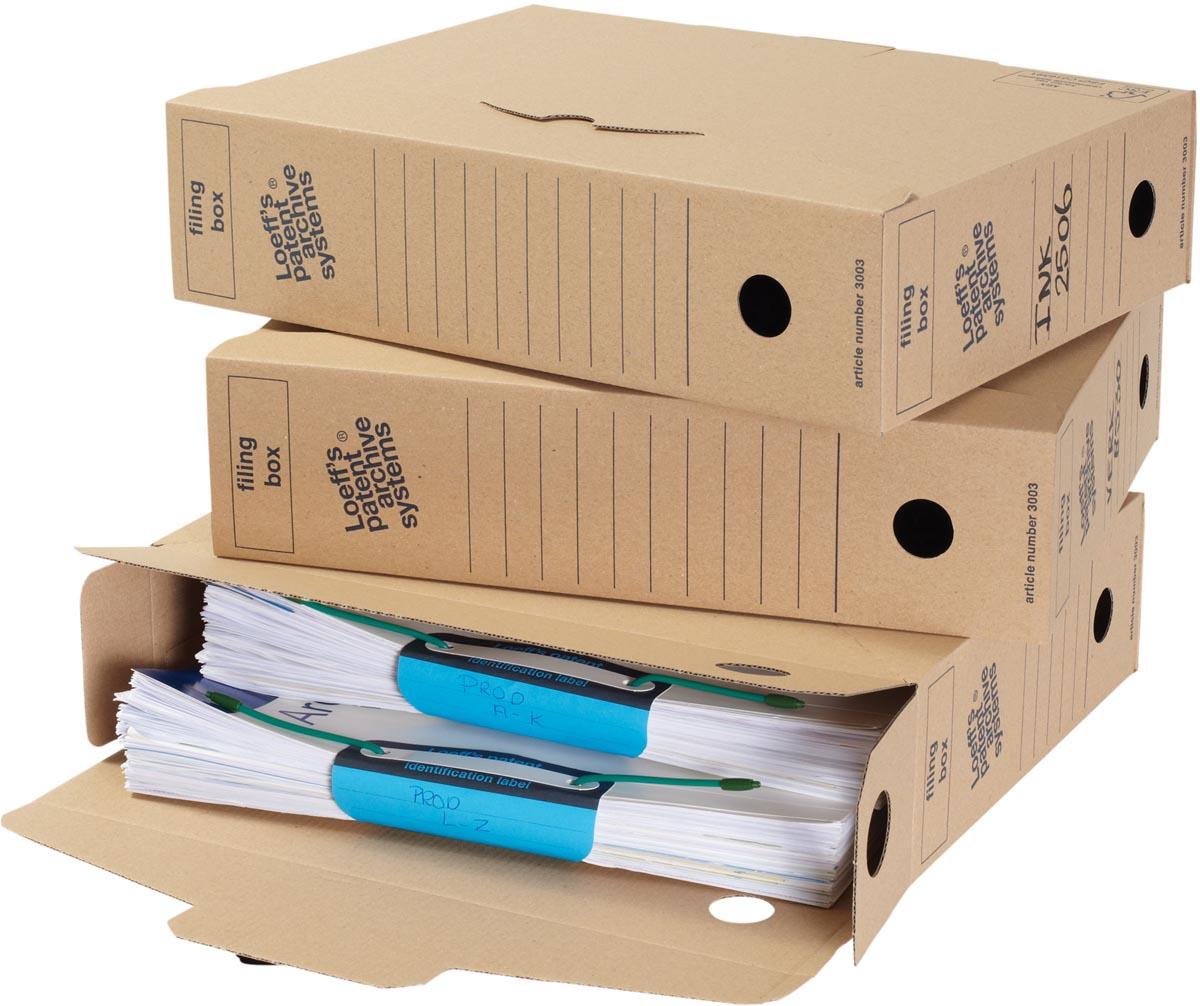 Loeff's archiefdoos voor A4, ft 34,5 x 25 x 8 cm, bruin, pak van 8 stuks
