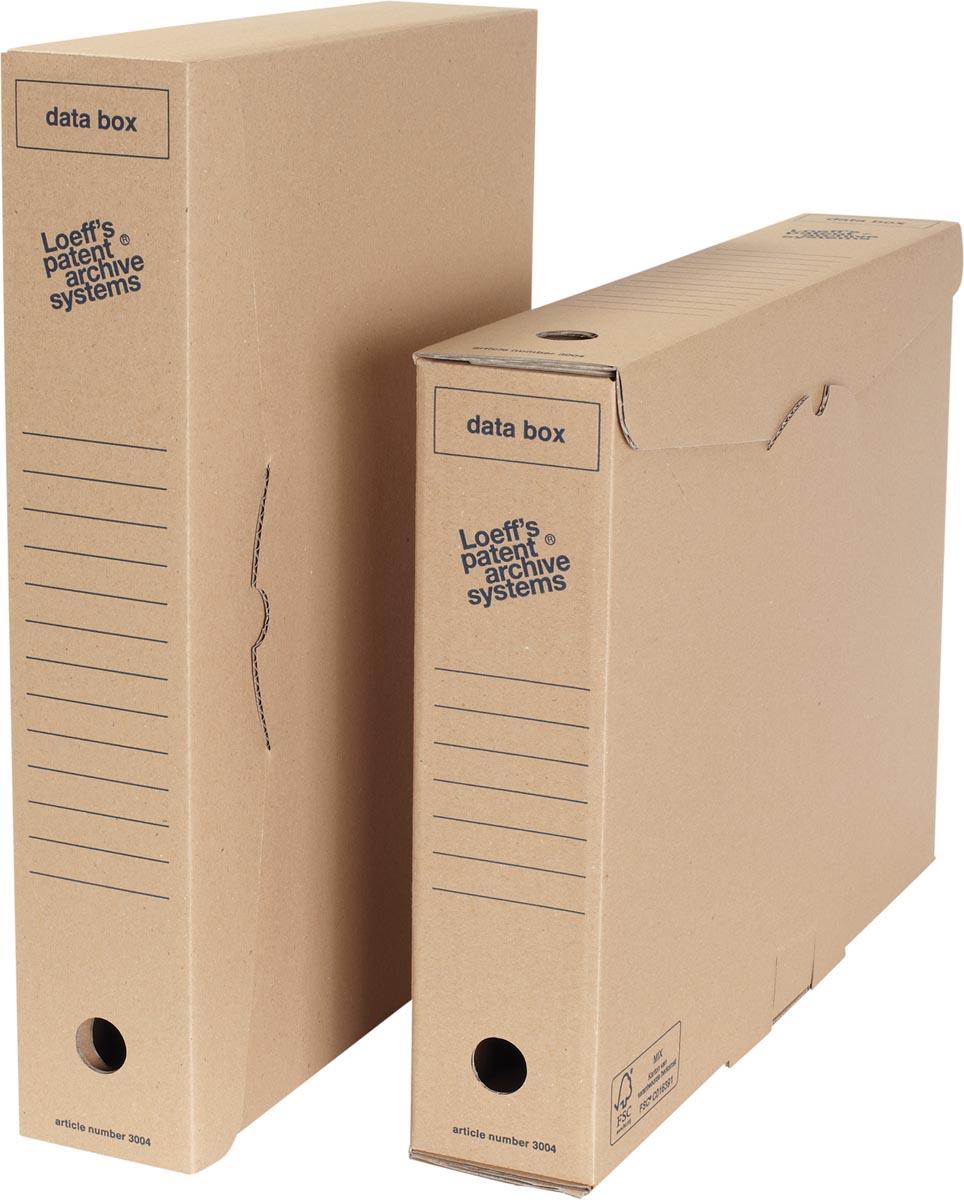 Loeff's archiefdoos Data box A3, golfkarton, bruin, pak van 8 stuks
