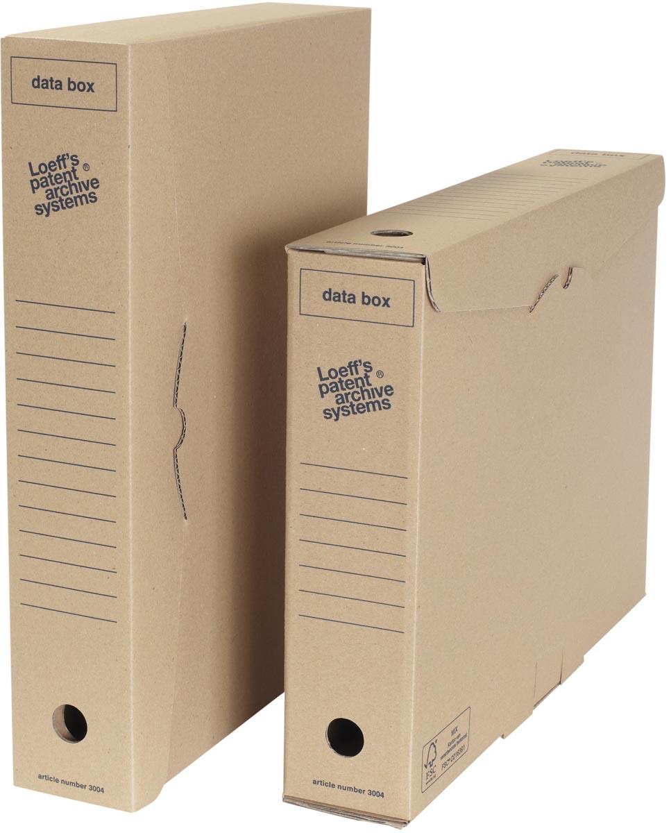 Loeff's archiefdoos voor A3, ft 440 x 320 x 80 mm, bruin, pak van 50 stuks