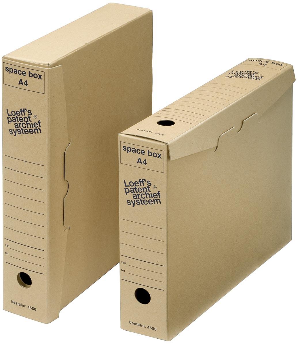 Loeff's archiefdozen Space box Ft 320 x 240 x 60 mm, pak van 50 stuks