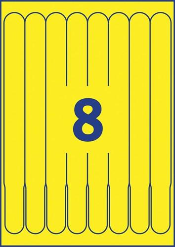 Bedrukbare polsbandjes voor de (kleuren-) laserprinter, kleur geel, pak van 48 stuks-3
