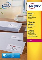 Avery L7159-40 adresetiketten, ft 63,5 x 33,9 mm (b x h), 960 etiketten, wit