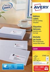 Avery etiketten QuickPEEL  ft 99,1 x 38,1 mm (b x h), 3.500 stuks, 14 per blad