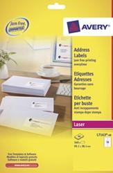 Avery Witte laseretiketten QuickPeel  doos van 40 blad, ft 99,1 x 38,1 mm (b x h), 560 stuks, 14 per blad