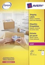 Avery Witte laseretiketten QuickPeel  doos van 100 blad, ft 99,1 x 93,1 mm (b x h), 600 stuks, 6 per blad