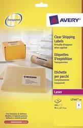 Avery transparante etiketten QuickPEEL ft 99,1 x 67,7 mm (b x h), 200 stuks, 8 per blad