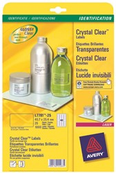 Avery transparante Crystal Clear etiketten ft 45,7 x 25,4 mm, 1.000 stuks, 40 per blad