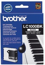 Brother inktcartridge zwart, 500 pagina's - OEM: LC-1000BK