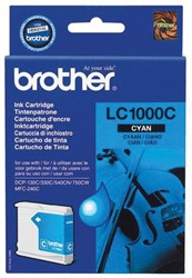Brother inktcartridge cyaan, 400 pagina's - OEM: LC-1000C