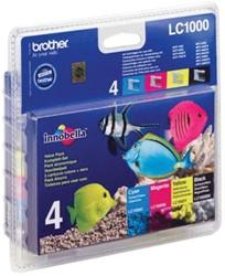 Brother inktcartridge 4 kleuren, 400 pagina's - OEM: LC-1000VALBP