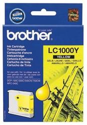 Brother inktcartridge geel, 400 pagina's - OEM: LC-1000Y