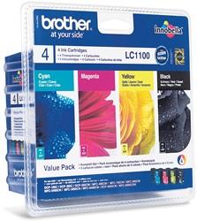 Brother inktcartridge 4 kleuren, 325 pagina's - OEM: LC-1100VALBP
