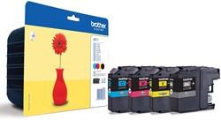 Brother inktcartridge 4 kleuren, 300 pagina's - OEM: LC-121VALBP