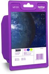 Brother inktcartridge 3 kleuren, 300 pagina's - OEM: LC-1220RBWBPDR