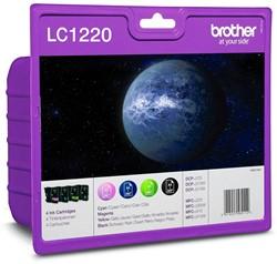 Brother inktcartridge 4 kleuren, 300 pagina's - OEM: LC-1220VALBP