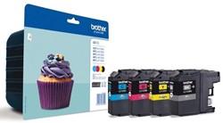 Brother inktcartridge 4 kleuren, 600 pagina's - OEM: LC-123VALBPDR