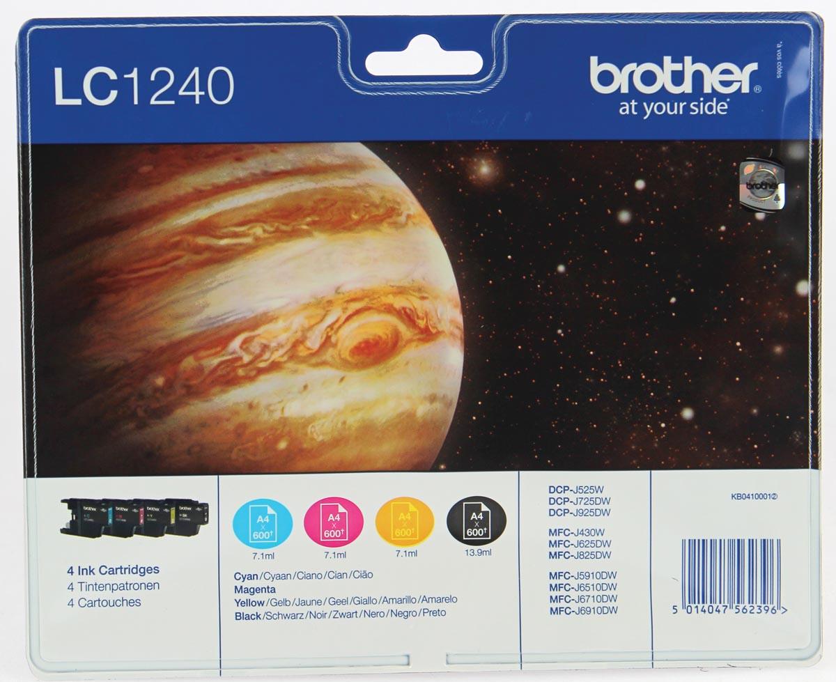 Brother inktcartridge 4 kleuren, 600 pagina's - OEM: LC-1240VALBP