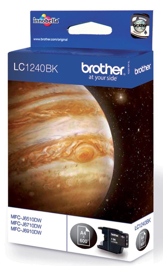 Brother inktcartridge, 600 pagina's, OEM LC-1240BK, zwart