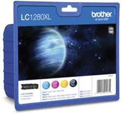 Brother inktcartridge 4 kleuren, 1200-2400 pagina's - OEM: LC-1280XLVALBPDR