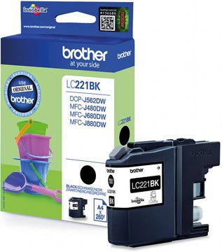 Brother BROTHER LC-221BKBP Ink cartridge Black Blister 300 pages (LC-221BKBP)