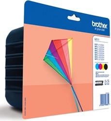 Brother inktcartridge 4 kleuren, 600 pagina's - OEM: LC-223VP