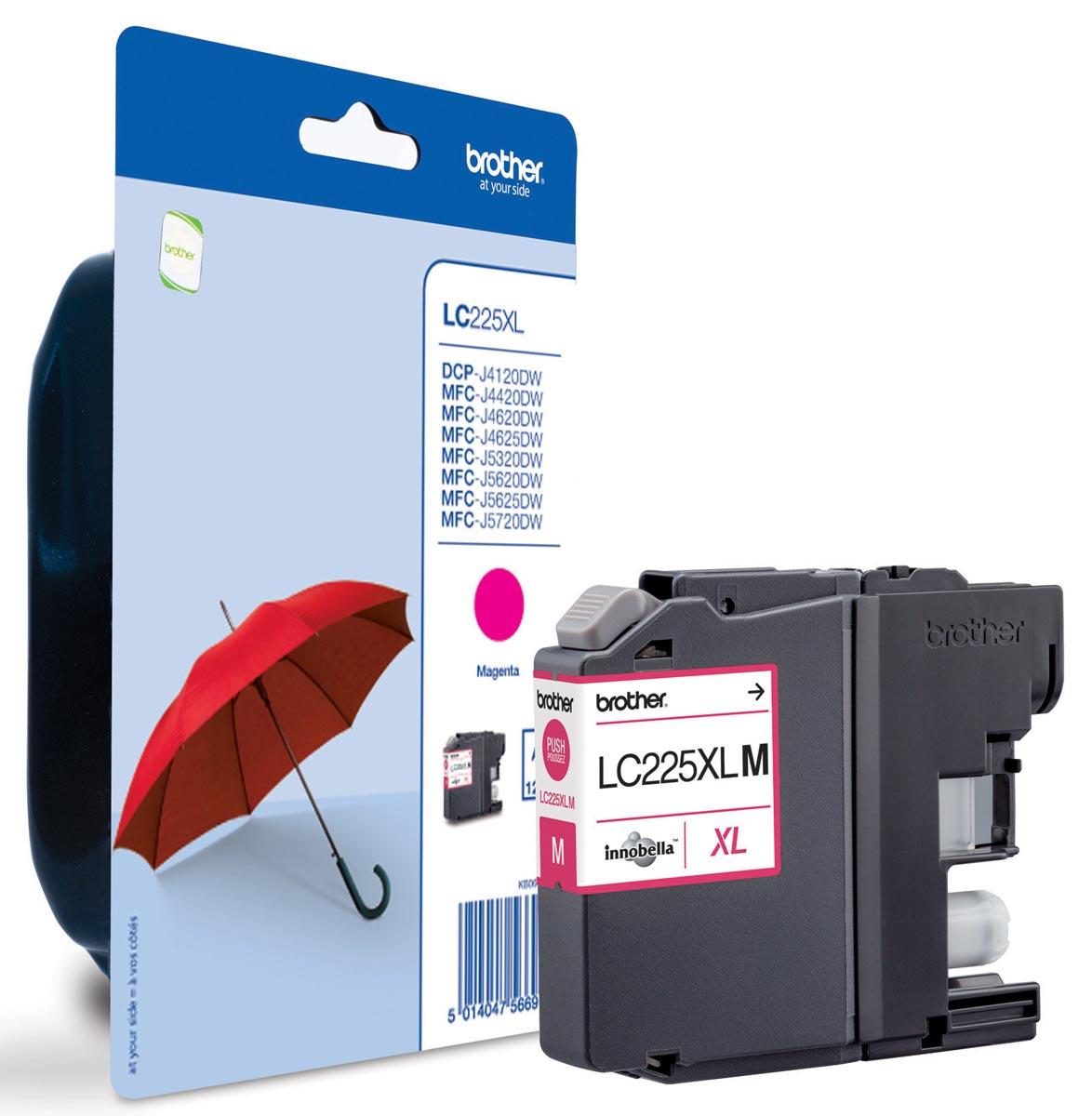 LC-225XL inktcartridge magenta high capacity 1-pack blister zonder ala