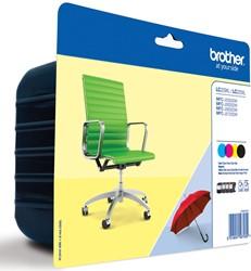 Brother inktcartridge 4 kleuren, 2400 pagina's - OEM: LC-229XLVAL