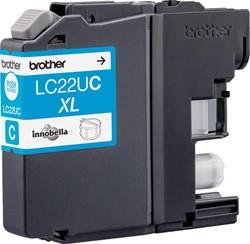 Brother inktcartridge cyaan, 1.200 pagina's - OEM: LC-22UC