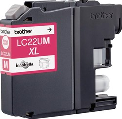 Brother inktcartridge magenta, 1.200 pagina's - OEM: LC-22UM