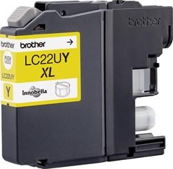 Brother inktcartridge geel, 1.200 pagina's - OEM: LC-22UY